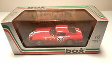 MODEL BOX RED FERRARI 275 GTB4  LE MANS 67 8452 WITH WHITE 1:43 SCALE NEW IN BOX