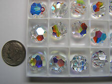 72 PIECES SWAROVSKI BEADS #5000 12MM CRYSTAL AB - FACTORY PACKAGE
