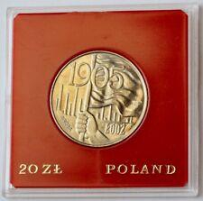 Poland 20 Zlotych, 1980, PATTERN coin, LODZ Riots, 1905, Proba