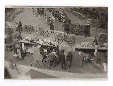 PHOTO ANCIENNE Vélo Vélodrome du vel d'hiv Hiver Paris HENRI MANUEL 1930 Course