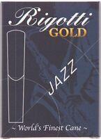 Rigotti Gold Jazz Cut Tenor Saxophone Reeds - 10 Per Box - Jazz Cut