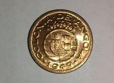 1949 ANGOLA BRONZE 10 CENTAVOS , GEM B.U. COIN (10 ITEMS W/DEL. CONF. $3.61 USA)