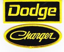DODGE CHARGER BLACK YELLOW SEW/IRON ON PATCH BADGE EMBROIDERED HEMI MOPAR