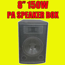 "QTX Sound QT8 8"" Passive 150W PA DJ Disco Subwoofer Speaker Sub Bass Bin Box"