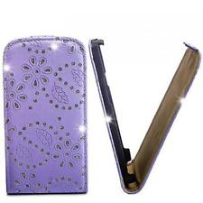 Glitzer Flip Case Handy Tasche Sony Ericsson Xperia Arc/Arc S Lila Etui Hülle
