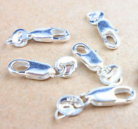 Wholesale 10PCS Jewelry Findings 925 Sterling Silver Lobster Clasps Hallmark II