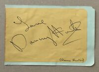 DANNY HUNTER. Genuine Handsigned Signature on Album Page.