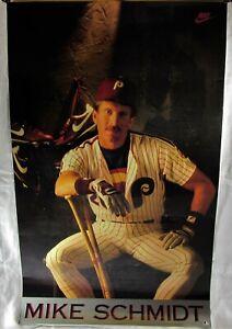 "Original 1980's Nike Baseball Mike Schmidt Philadelphia Phillies Poster 36""x22"""