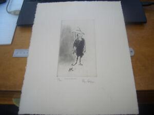 "HUGH CASSON ORIGINAL  ETCHING ""SCHOOLGIRL"" 37/80 SIGNED BY ARTIST"