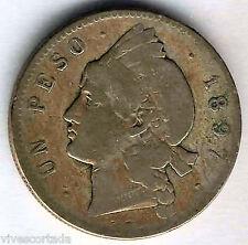 Republica Dominicana  1 Peso 1897 INDIO plata ( Bella )