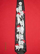 New Christmas 100% Silk Dalmatian Dog Tie