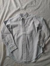 RALPH LAUREN Boy's L/S Blue & White Striped Logo Button Front Top size 5~EUC~