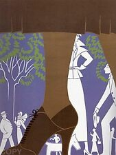 """Erte  """"Brown Boot"""" 1974 Serigraph, Pencil Signed and Numbered 184 of 260"""