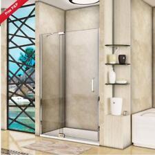 800x1100mm Frameless Pivot Walk in Shower Door Enclosure 8mm Glass Tray Waste