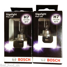 Bosch Car Headlamp Bulb Gigalight Plus 120 477 H7 x 2