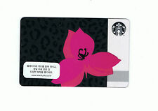 Starbucks card Korea 2013 Pink Flower Leopard Print Limited Card