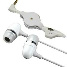 RETRACTABLE HEADSET HANDS-FREE EARPHONES W MIC DUAL METAL for CELLPHONE & TABLET