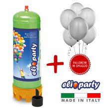 Elioparty - Bombola Gas Elio MEDIUM + 30 palloncini BIANCHI in OMAGGIO