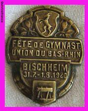 BG1839 ALSACE BISCHHEIM 1920 GYMNASTIQUE