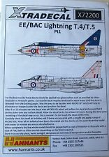 Xtradecal 1/72 X72200 EE/BAC Lightning T.4/T.5 Decal Set part 1