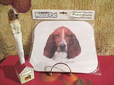 Basset Hound ~ Mouse Pad & Pen Set