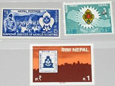 NEPAL 219 351 479 Boy Scouts Movement Jamboree Pfadfinder Camp Berge MNH