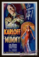Movie Poster -  The Mummy with Boris Karloff & Zita Johann Year 1932  11x17