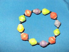 Recycled Bracelet Rolled Paper Beads made in kenya 8