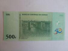 billet de 500 francs du congo de 30-06-2010 état neuf