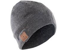 Beanie-Mütze inkl. integriertem Headset mit Bluetooth, FM-Radio, grau