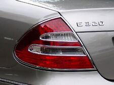 Mercedes W211 E Clase Saloon Cromo Anillos de Marcos de Luz de la cola
