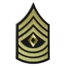 First Sergeant Chevron Black Yellow/Gold Sew or Iron on Patch Biker Patch
