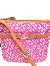 TOMMY HILFIGER XBody Messenger Bag *Pink/Tan Color* Shoulder Purse *New*