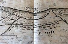 Italie Eau-forte bataille de Cassano Eugène de Savoie et Piémont Italy