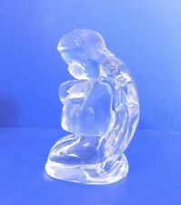 MOSSER GLASS PRAYING ANGEL FIGURINE OR PAPERWEIGHT SOLID CRYSTAL CLEAR GLASS