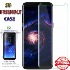 5D Case Friendly Full Cover Tempered Glass Screen Protector Samsung Galaxy S8