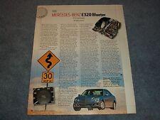 """2007 Mercedes-Benz E320 Bluetec Diesel Info Article """"10-4, Gut Buddy"""""""