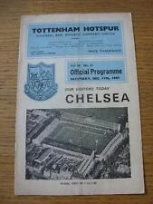 11/12/1965 Tottenham Hotspur v Chelsea (piegati, piegato). NO difetti evidenti, ONU