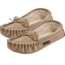 Sheepskin Moccasin Slippers Mens and Ladies UK Made Soft Sole by Lambland
