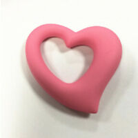 Heart Shape Silicone Baby Teether Toddler Teething Toy Ring Chewable Soother S