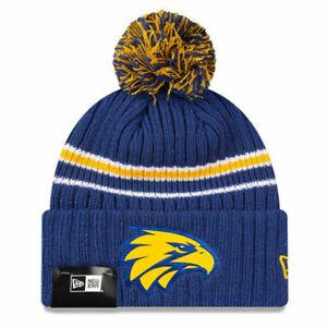 New Era West Coast Eagles Authentic Team Cuff Knit Beanie - AFL