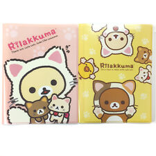 San-X Rilakkuma Plastic A4 File Folder - Multiple File Dividers 2pc Set 24c62/63