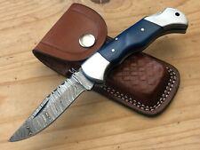 ASH Pc459 Damascus steel custom handmade pocket folding knife