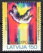 LATVIA 2010 LATVIJA WORLD EXPO PASAULES IZSTADE SANHAJA CHINA POST STAMPS MNH**