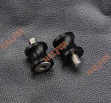 Black 8MM CNC Swingarm Sliders Spools Fit Suzuki GSXR 600/750/1000 1300 SV650/S