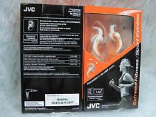 JVC HA-ETX30 Extreme Sport Inner Ear Waterproof Washable Headphones White Orange