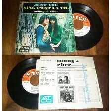 SONNY & CHER - Just You French EP Pop Mods 1965 Avec Languette