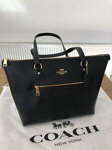 Coach Gallery Black Tote Bag, Shoulder Bag, Gold Hardware, New