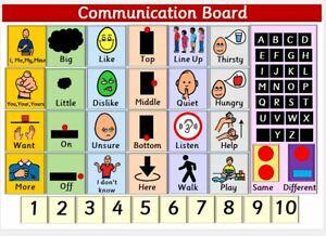 SEN Communication Board - WEATHERPROOF FOR OUTDOORS - METAL - A3 in size