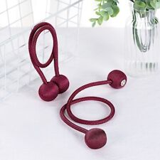 2 BURGUNDY Magnetic CURTAIN TIE BACKS Metal Drapery Holdbacks Party Decorations